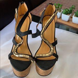 "Shoes - Black 5"" wedges"